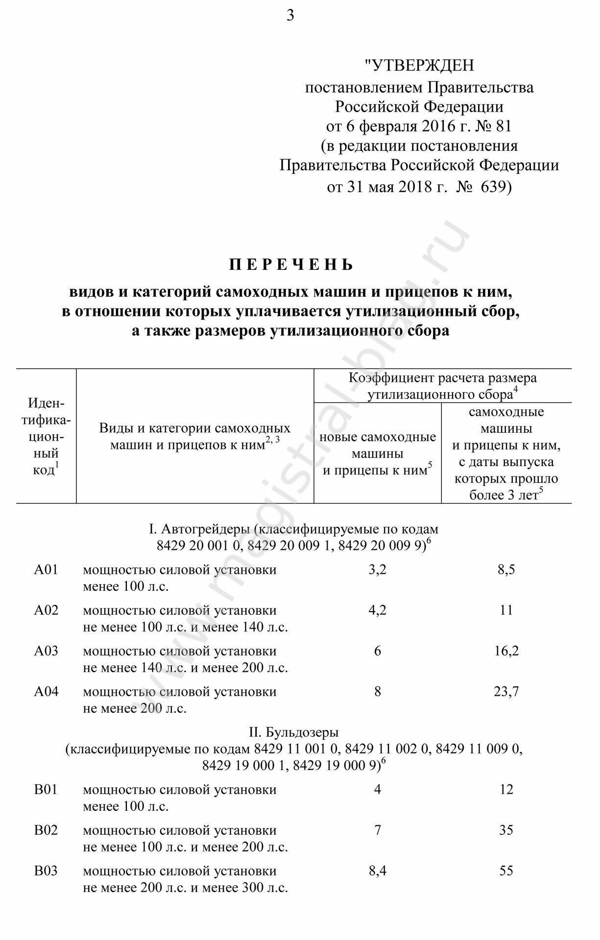 Определены правила уплаты утилизационного сбора в отношении самоходной техники